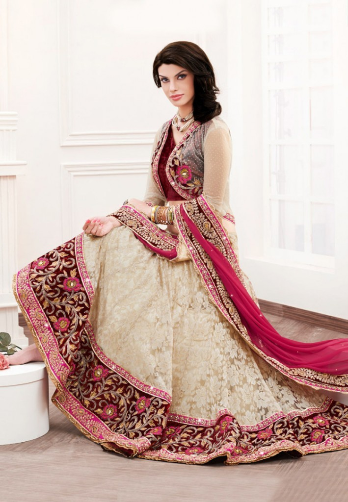 Bridal Dress Angrakha Style Frocks 2017 for Women