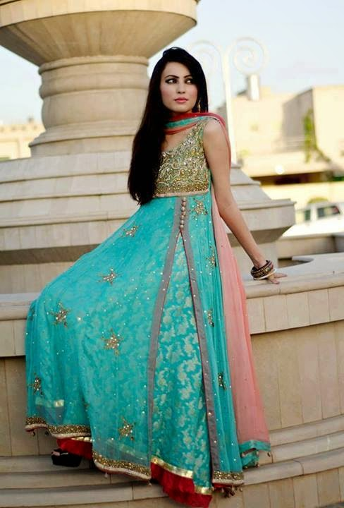 Latest Angrakha Style Dresses Designs Collection for Women