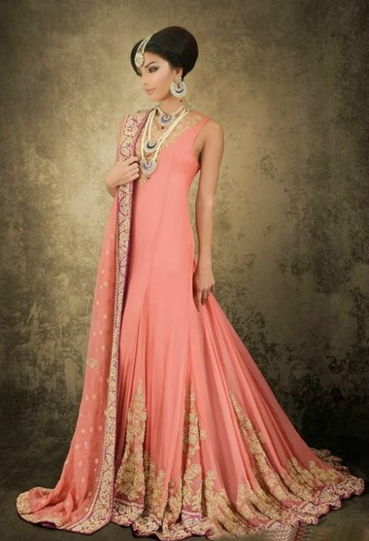 Latest Beautiful Bridal Dresses For Girls 2017