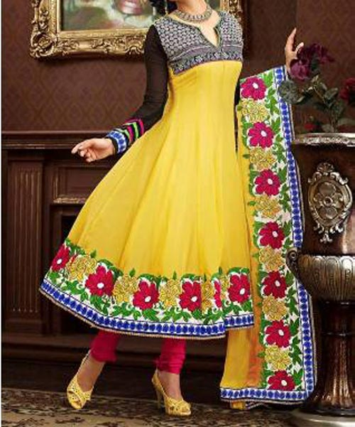 Latest Stylish Anarkali Frocks with Churidar Pajama