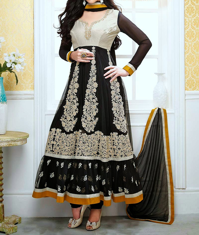Angrakha Anarkali Frocks Design for Women