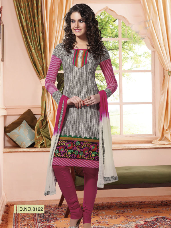 Embroidered Simple Cotton Suit For Women