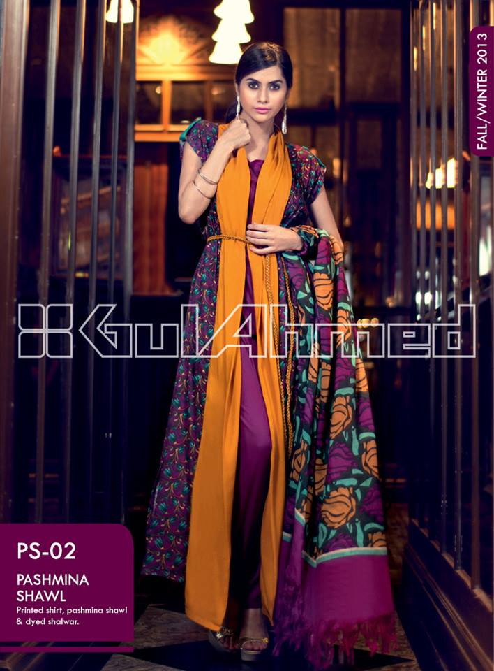Gul Ahmed Latest Fall Winter Dresses Collection 2017-18 For Women