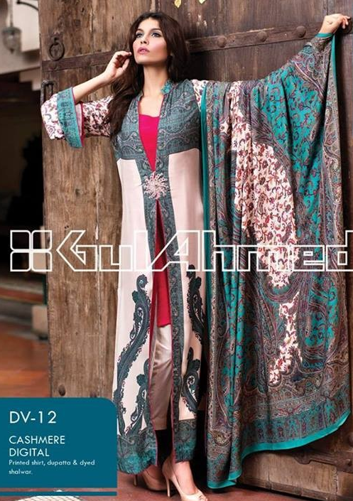 Gul Ahmed Winter Collection 2017-18 with Prices For Girls