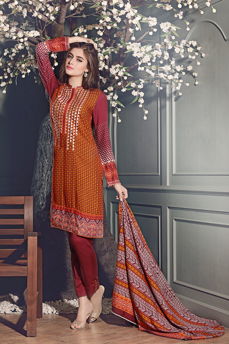Gul Ahmed Winter Dresses Collection For Women
