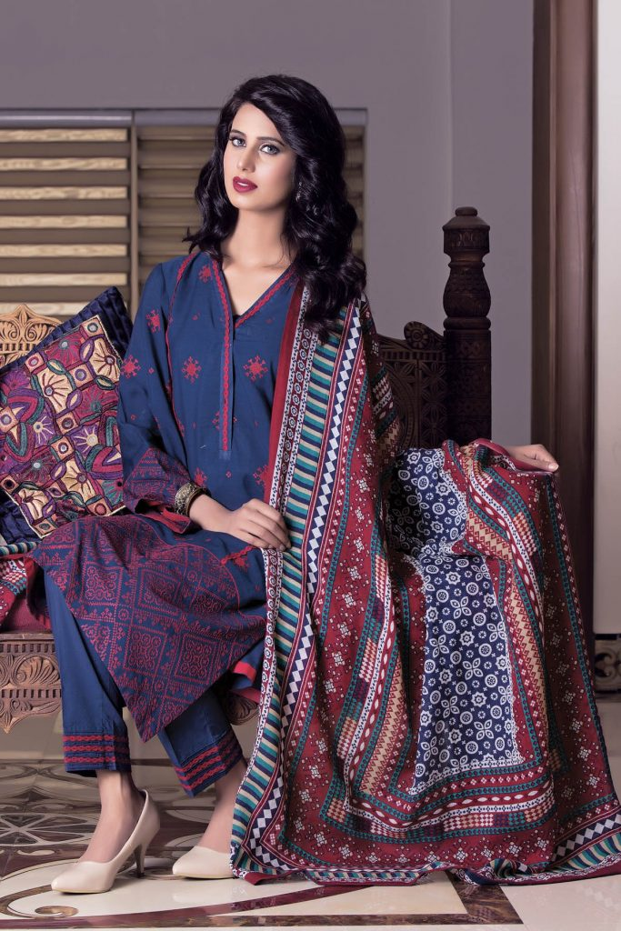 Kayseria Winter Shawls Dresses Collection For Young Girls