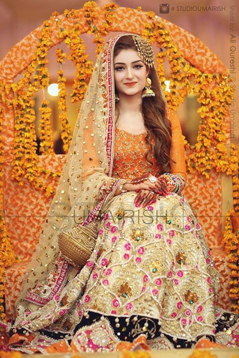 Latest Bridal Mehndi Dresses Collection 2017-2018