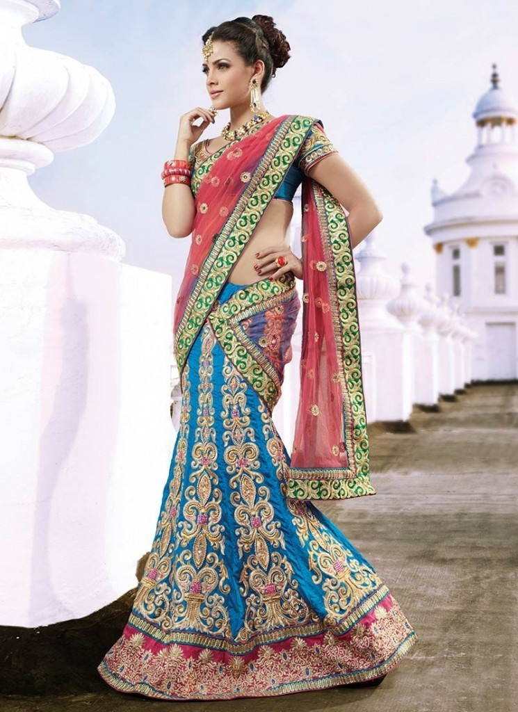 Latest Lehenga Saree Fashion Designs in For Women