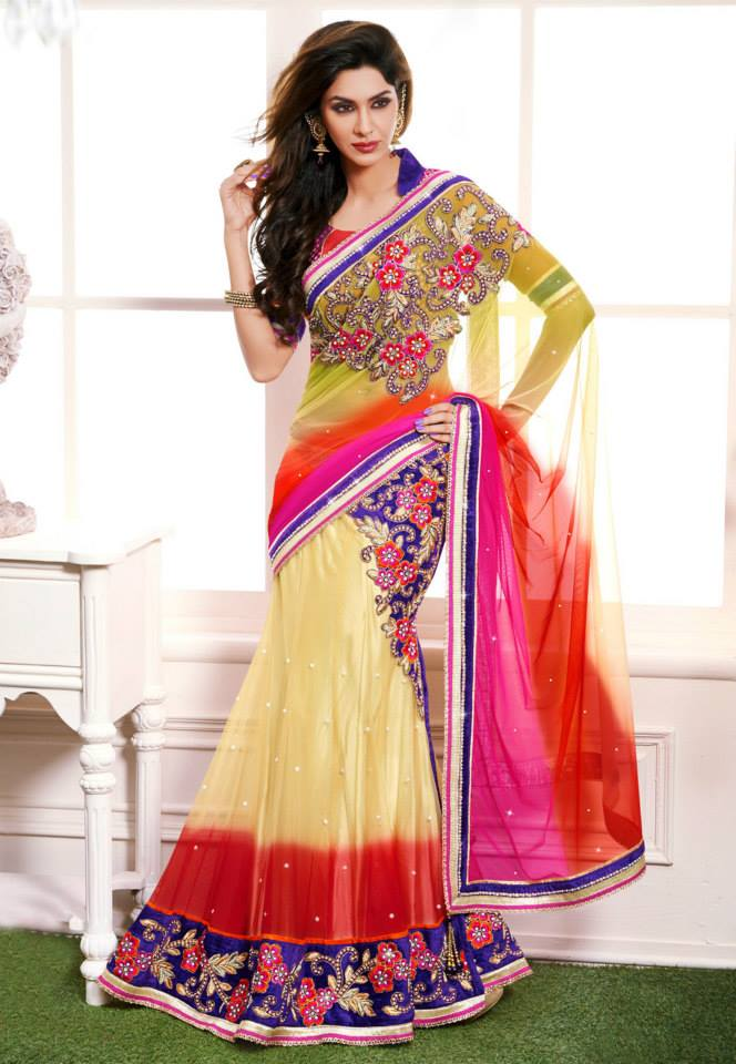 Lehenga Saree Fashion Designs in Pakistan