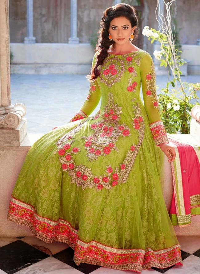 Long Anarkali Frock Collection for Girls and Women