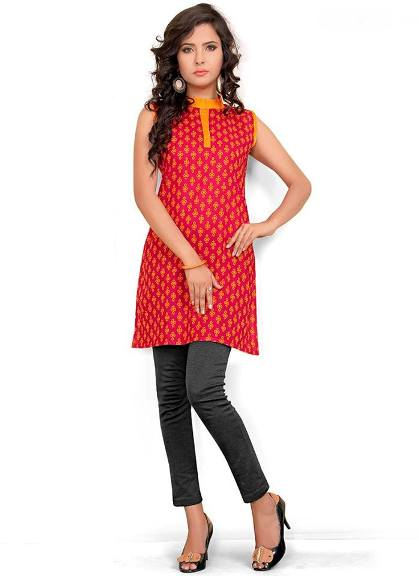 Long Kurti With Jeans for Girls