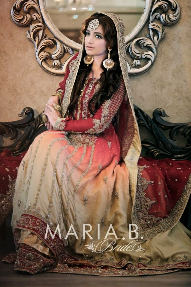 Maria.B Beautiful Bridal Dresses Collection For Girls and Women