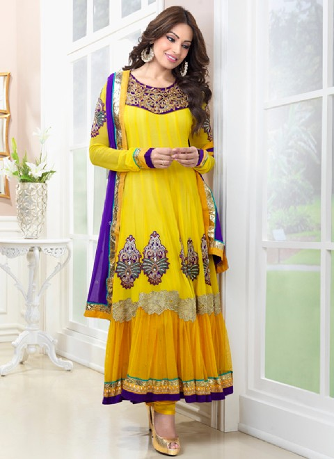 Multi Color Pakistani Mehndi Dresses for Bridals