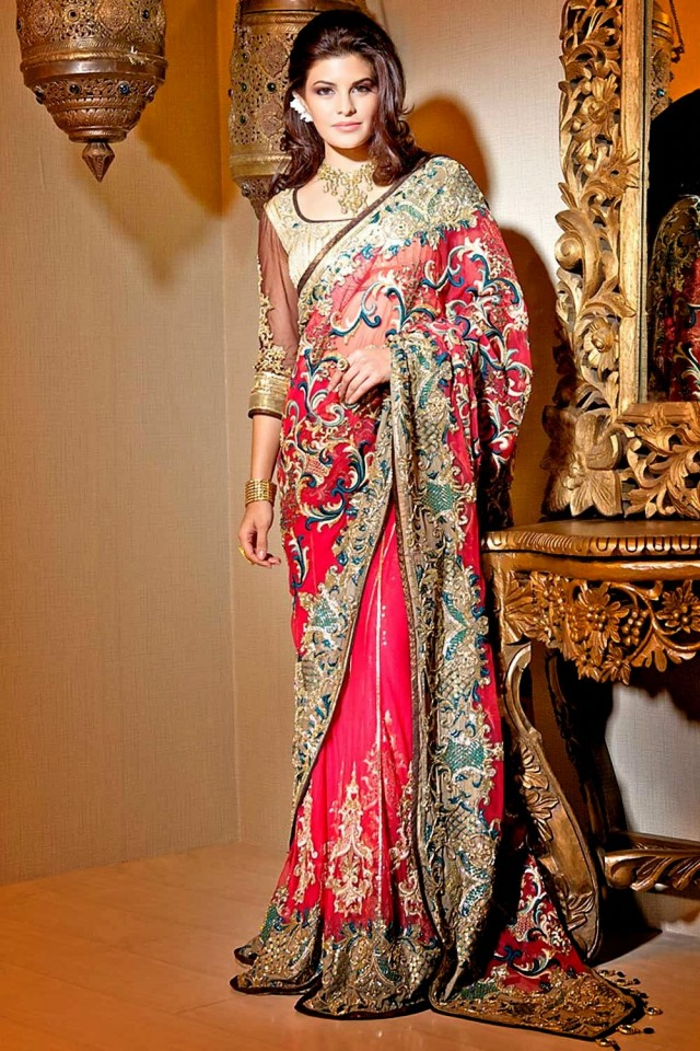 Latest indian saree designs collection 2017 18 for women - Dressing modellen ...