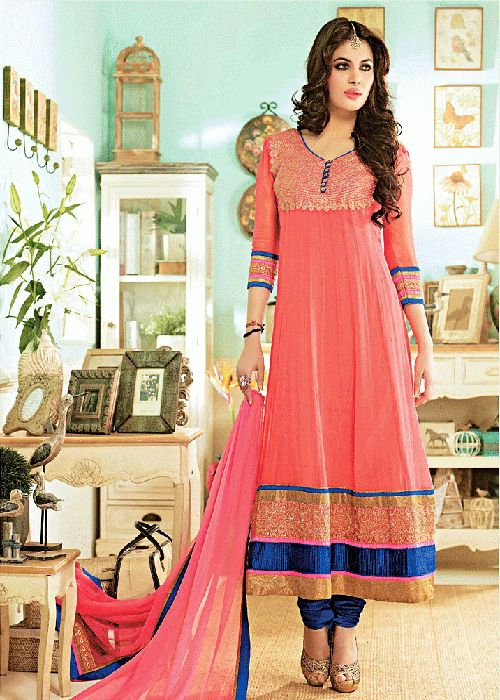 New Fashion Designer Anarkali Frock for Women 2017