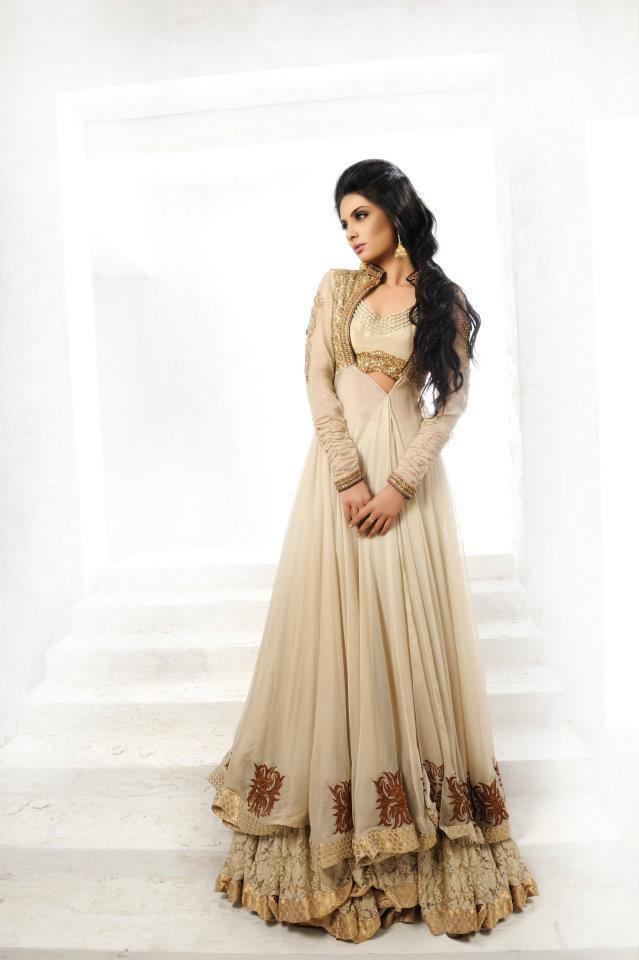 Pakistani Open Double Shirt Style Tail Gown Frock