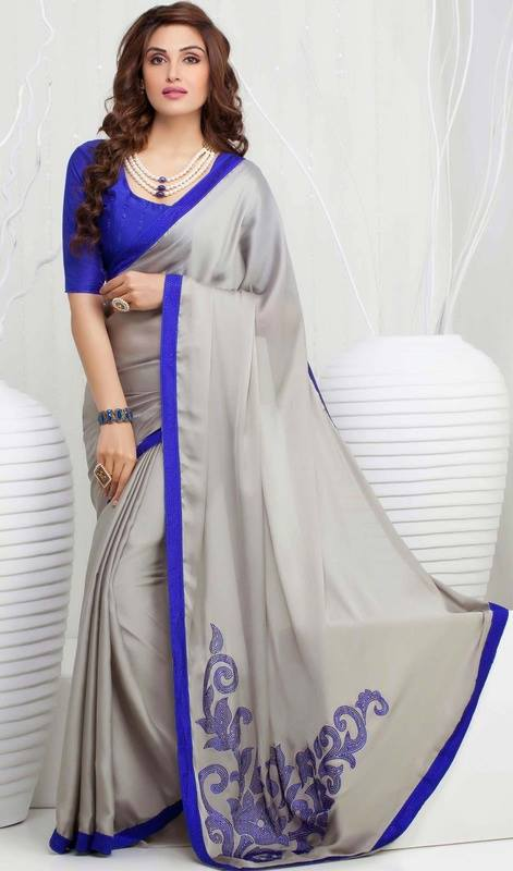 Pakistani and Indian Designer Party Wear Saree Collection 2017-18