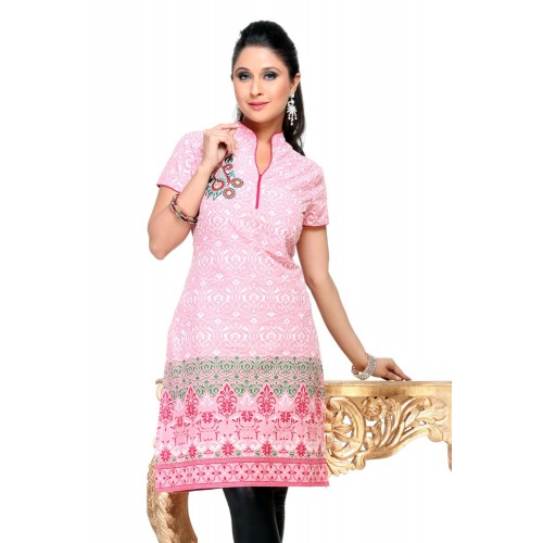 Short Kurti with Light Embroidery