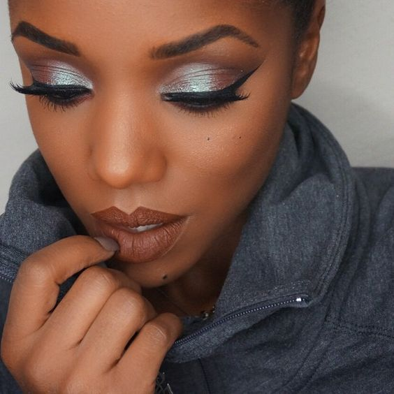 Smokey eye makeup ideas for dark skin