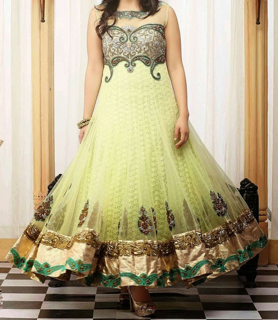 Stylish Indian Long Frock Suit Anarkali Designer Dress