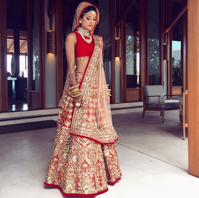 Wedding Lehenga Saree Designs For Women