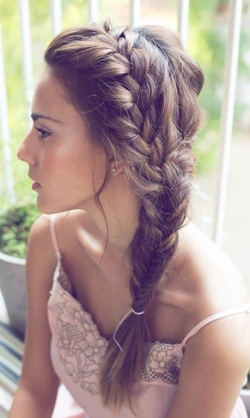Side Braid Hairstyle for Long Hair Summer Hairstyles Ideas