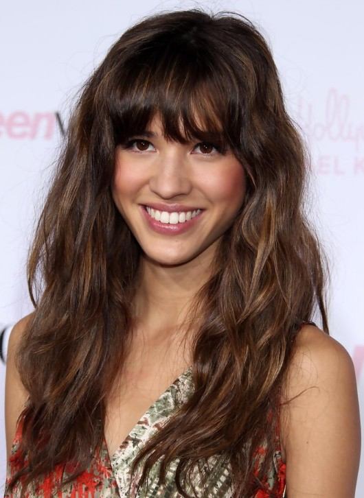 Best Long Curly Hairstyles with Bangs