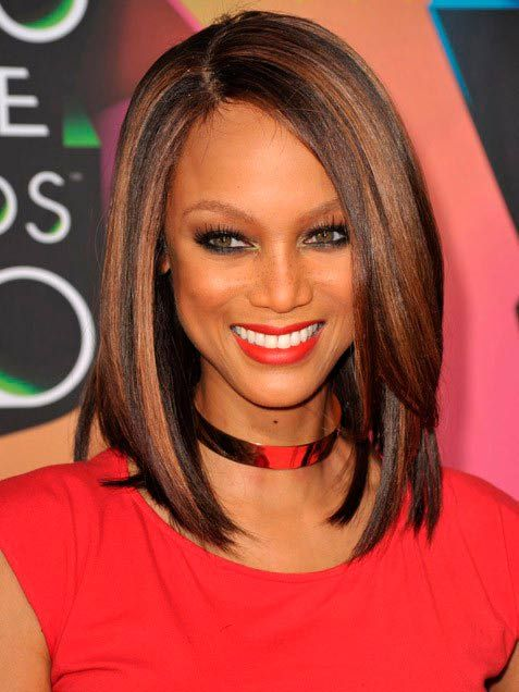 Best Straight Long Bob Hairstyle for Black Women