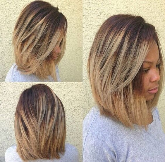 Bob Cut with Blonde Dye for Black Women