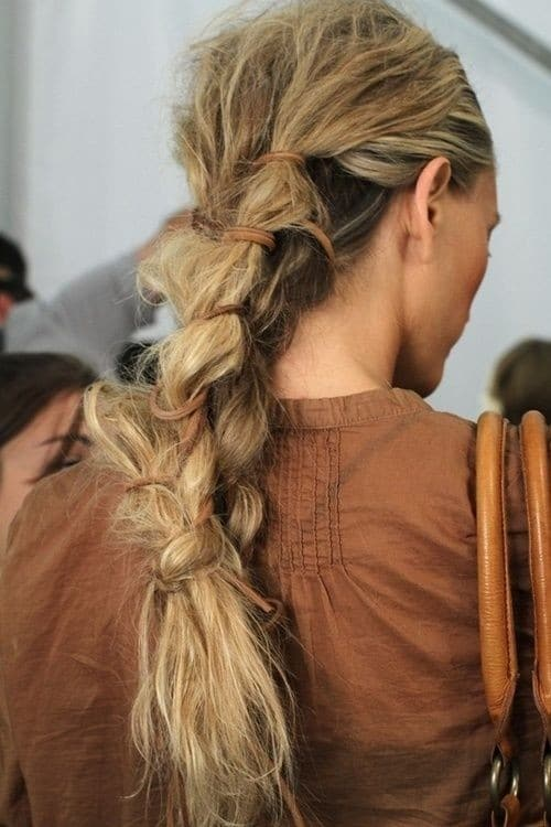 Cool Messy Braid Ponytail Hair Style