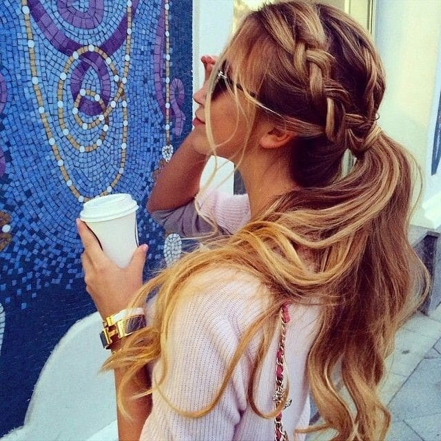 Cute Braid with Ponytail Long Hairstyles for Spring and Summer