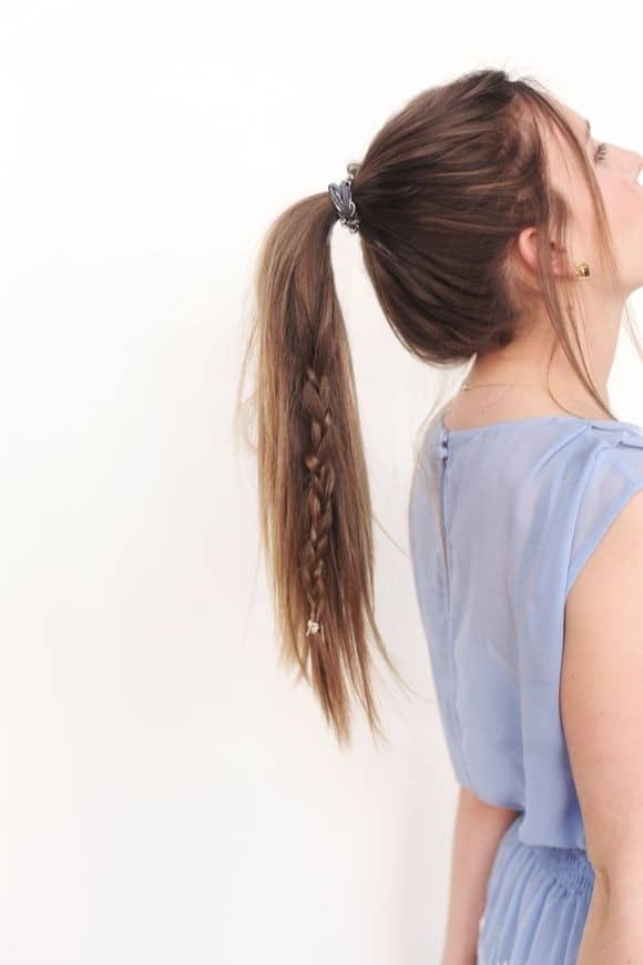 Easy Braid Ponytail Girl Long Hair Ideas