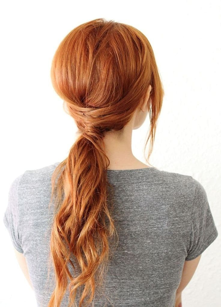 Easy Low Ponytail Hairstyle Long Hair Styles