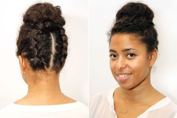 The Cinnamon Roll Updo most popular hairstyle for natural hair
