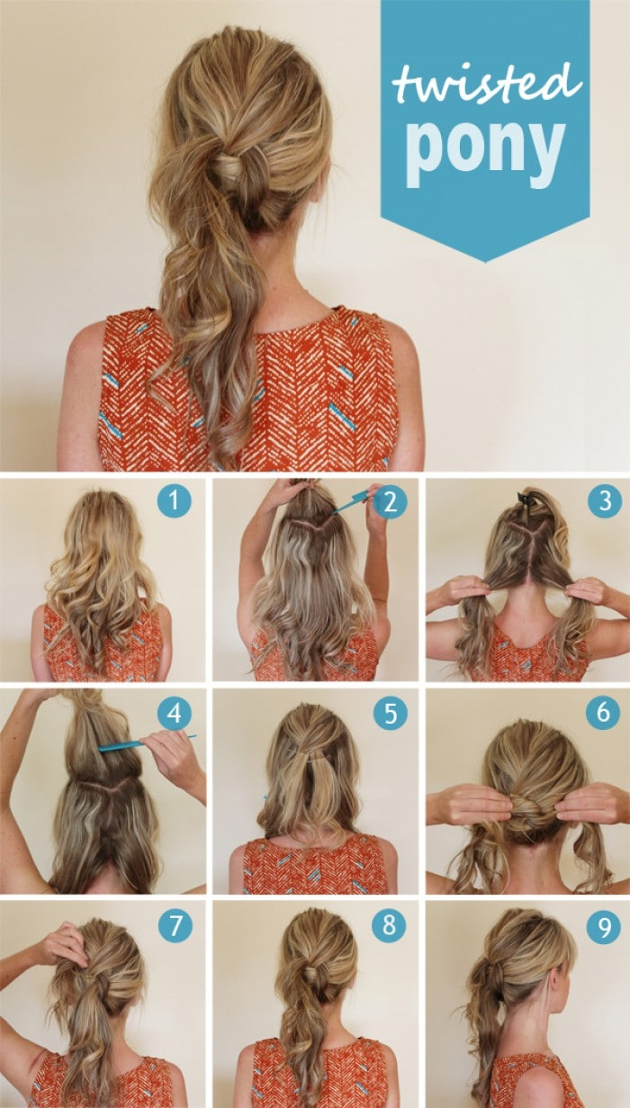 The Twists Ponytail Hairstyle for Long Hairs