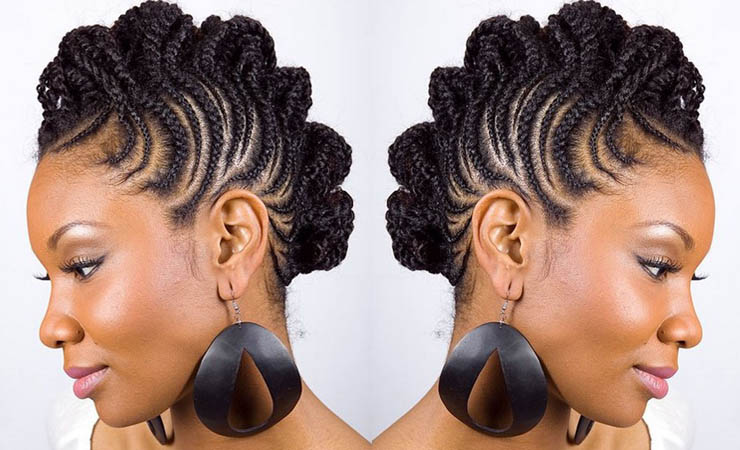 The best Fro Hawk hairstyle for natural hair