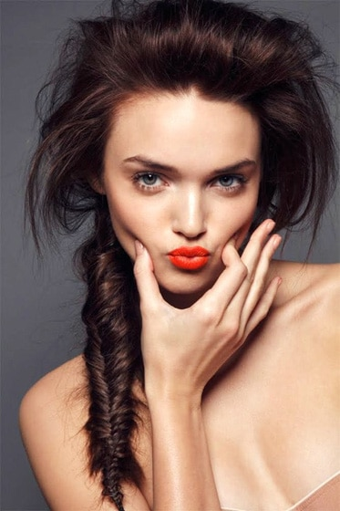 Super-Easy Fishtail Braid Hairstyles Girls with Long Hair
