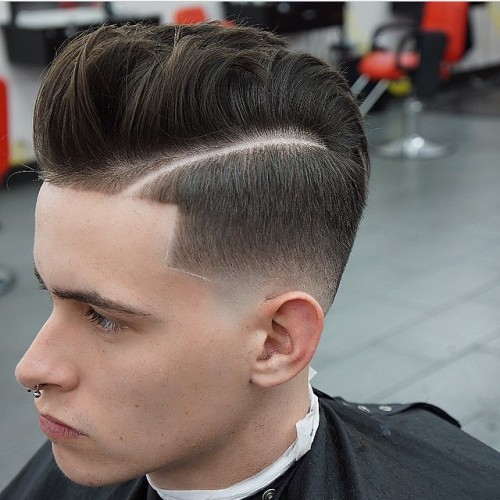 Pompadour Fade Haircuts - Men's Hairstyle Trends