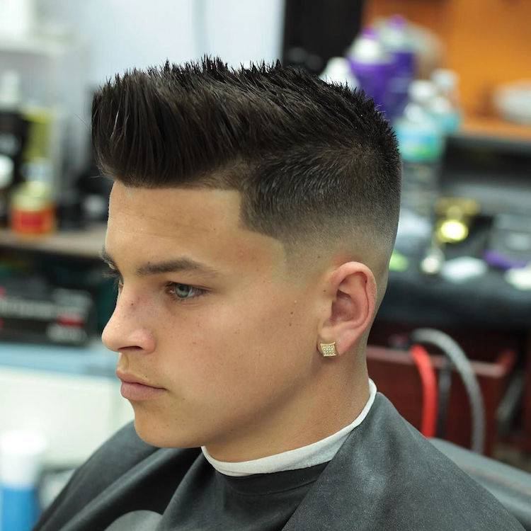 Classic high fade on top