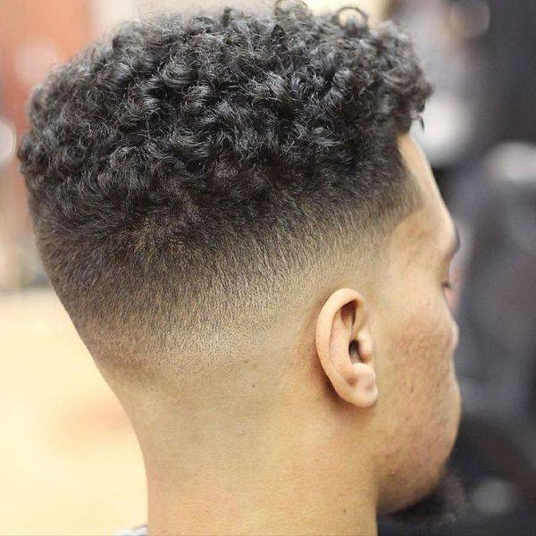 Curly top with fading sides