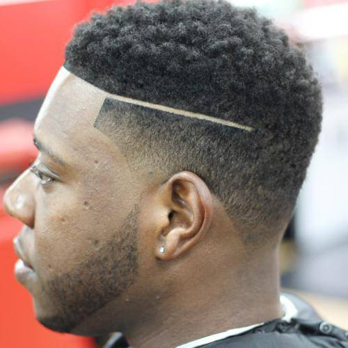 Low fade with clean cut