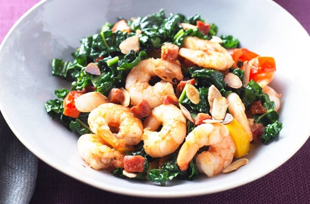 Vegetables with prawns