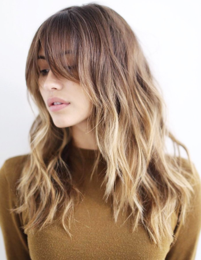 Front Side Bangs for Long Hair